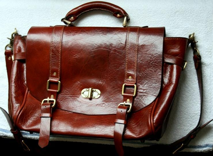 Bild 5: Tasche Leder Vintage Handmade Luxus