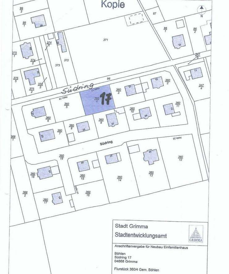 Bild 6: Böhlen bei Grimma - in ruhiger Lage Baugrundstück für ein Einfamilienhaus