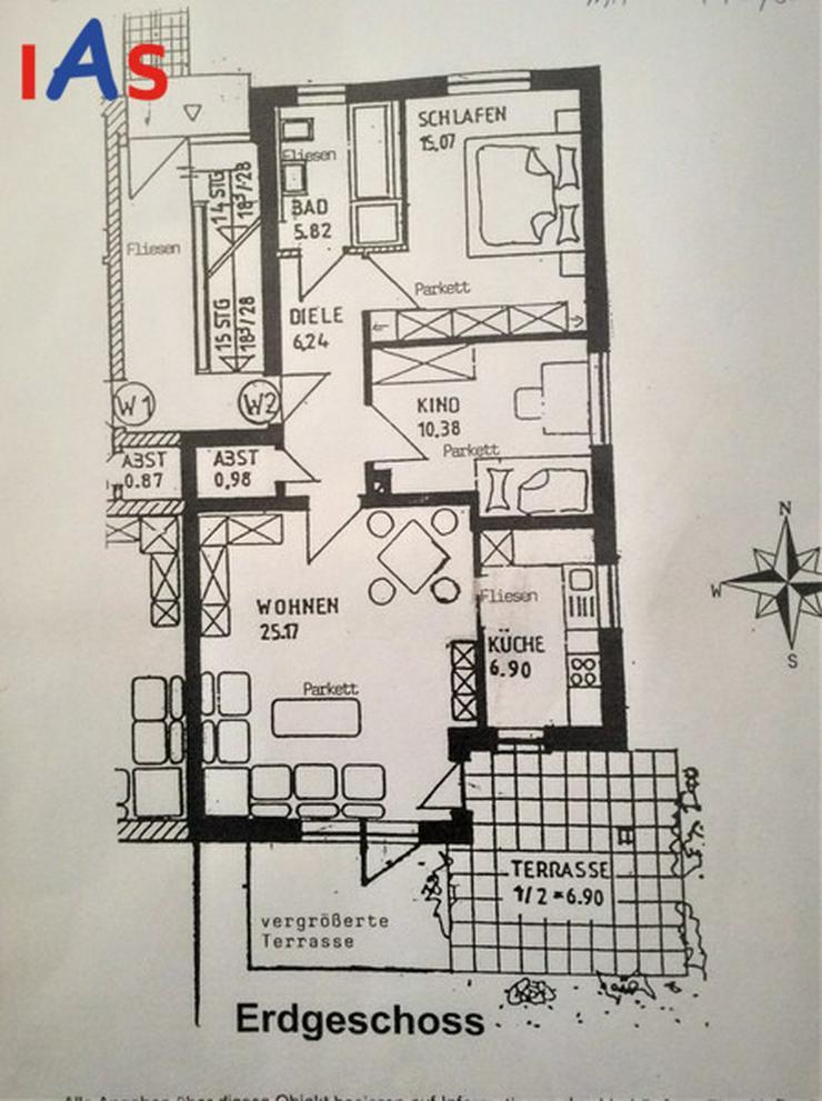 Sonnige EG-Wohnung mit Terrasse und hochwertiger Ausstattung zu verkaufen! - Wohnung kaufen - Bild 1