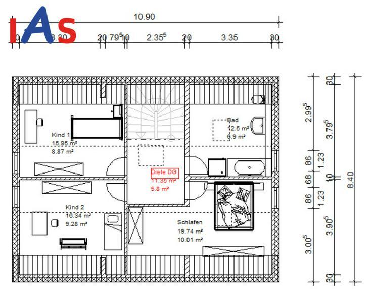 Bild 4: Neubau: EFH auf sonnigem Grundstück - in einer Neubausiedlung in ruhiger Lage!