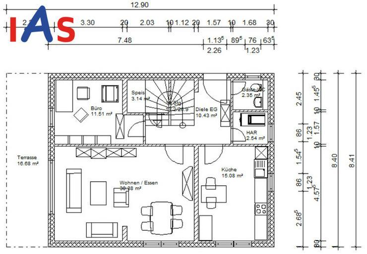 Bild 3: Neubau: EFH auf sonnigem Grundstück - in einer Neubausiedlung in ruhiger Lage!