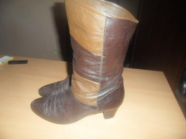 Bild 2: Tolle Stiefel  Reines Leder  Farbmix