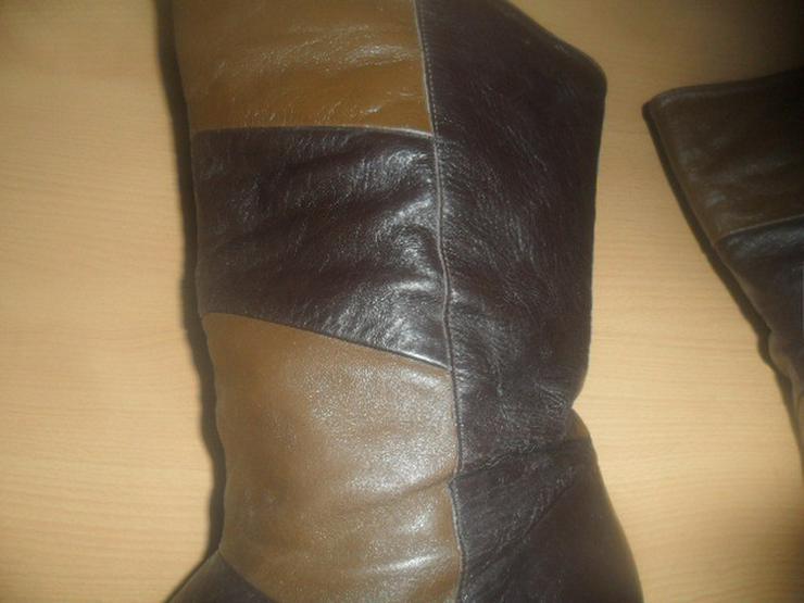 Bild 3: Tolle Stiefel  Reines Leder  Farbmix