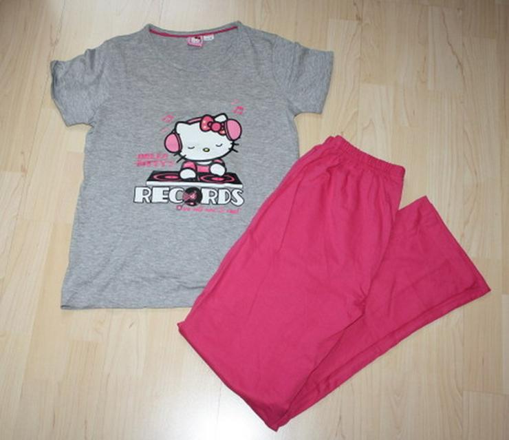Hello Kitty Schlafanzug Kurzarm Pyjama 146/152 - Bild 1
