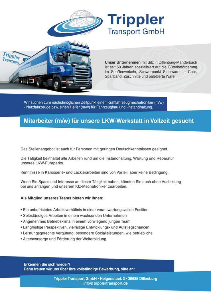 Mitarbeiter (m/w)  LKW-Werkstatt Vollzeit