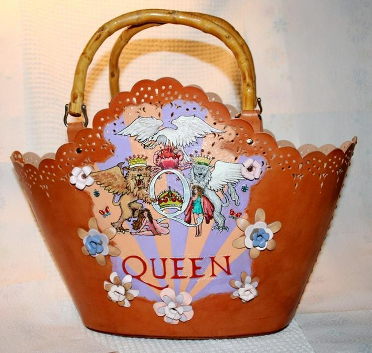 Damen Echtes Leder Tasche Handmade
