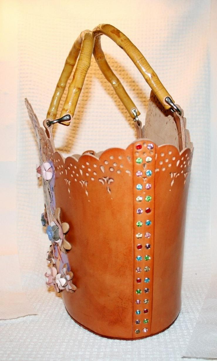Bild 2: Damen Echtes Leder Tasche Handmade