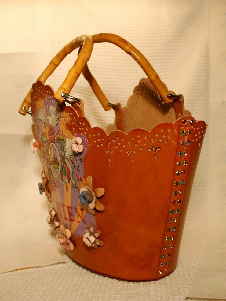 Bild 4: Damen Echtes Leder Tasche Handmade
