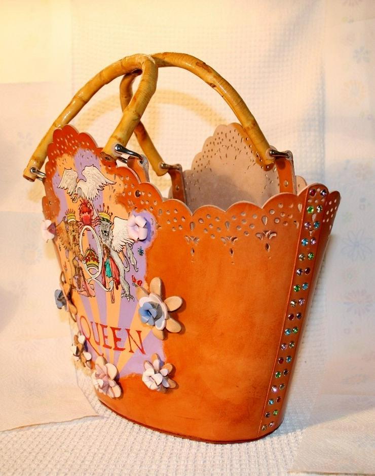 Bild 3: Damen Echtes Leder Tasche Handmade