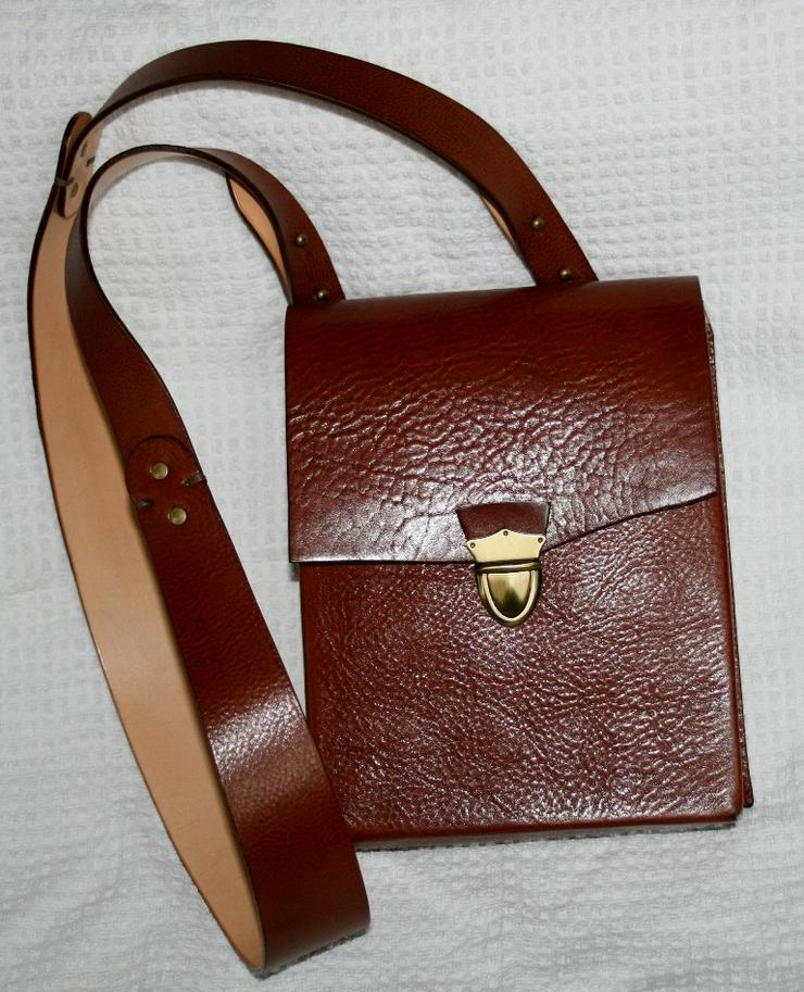 Schultertasche Echt Leder Handmade