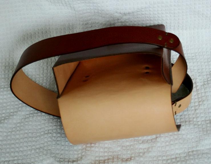 Bild 4: Schultertasche Echt Leder Handmade