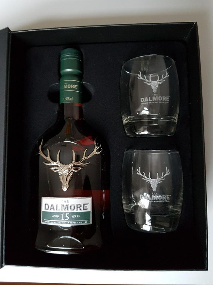Dalmore 15 Jahre. Geschenkverpackung mit 2