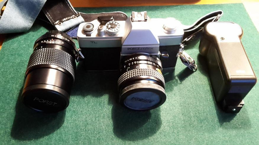 Porst Reflex TL Spiegelreflexkamera, & Tasche