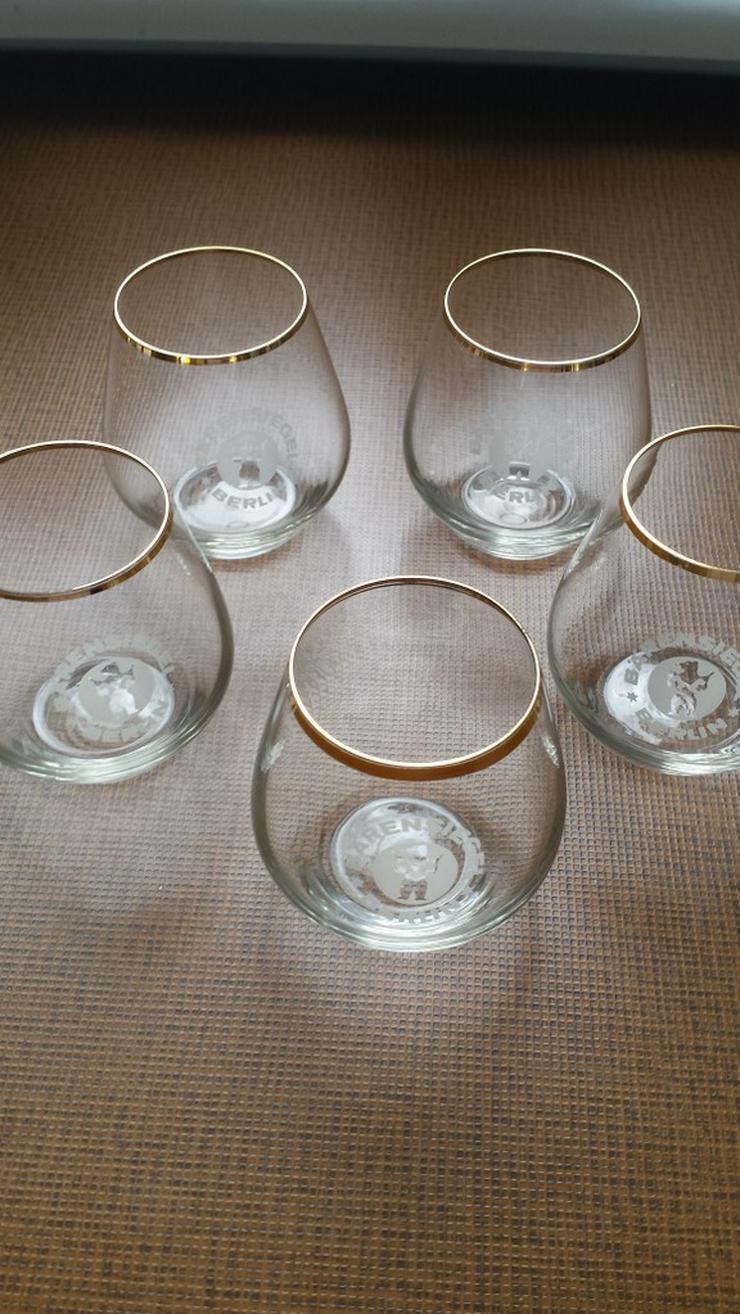 5 CognacGläser und 5 bunte Likörgläser