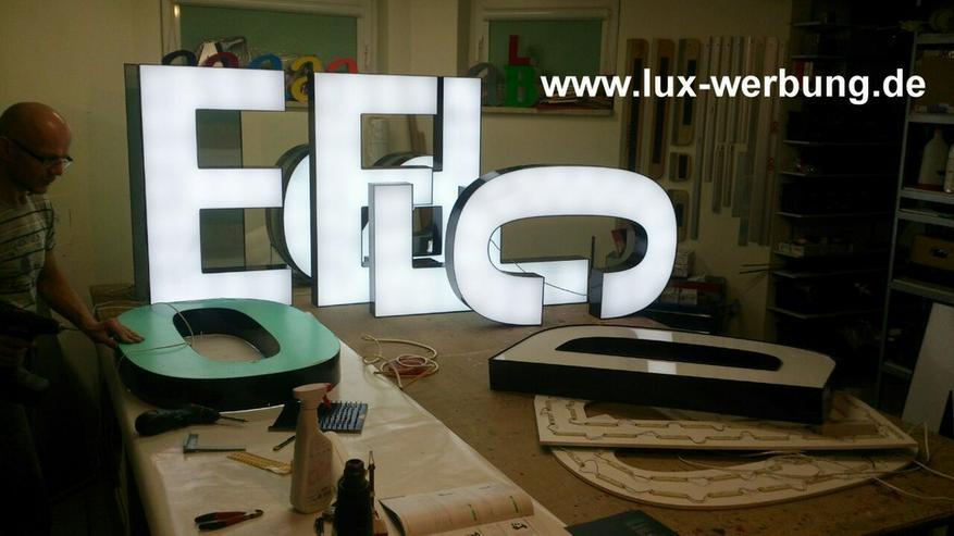 Bild 13: 3D Leuchtwerbung Leuchtreklame Außenwerbung LED