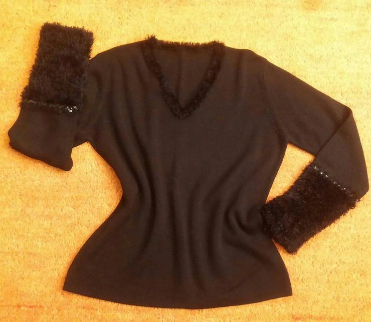 Damen Pullover strick Fransen Pailletten Gr.M