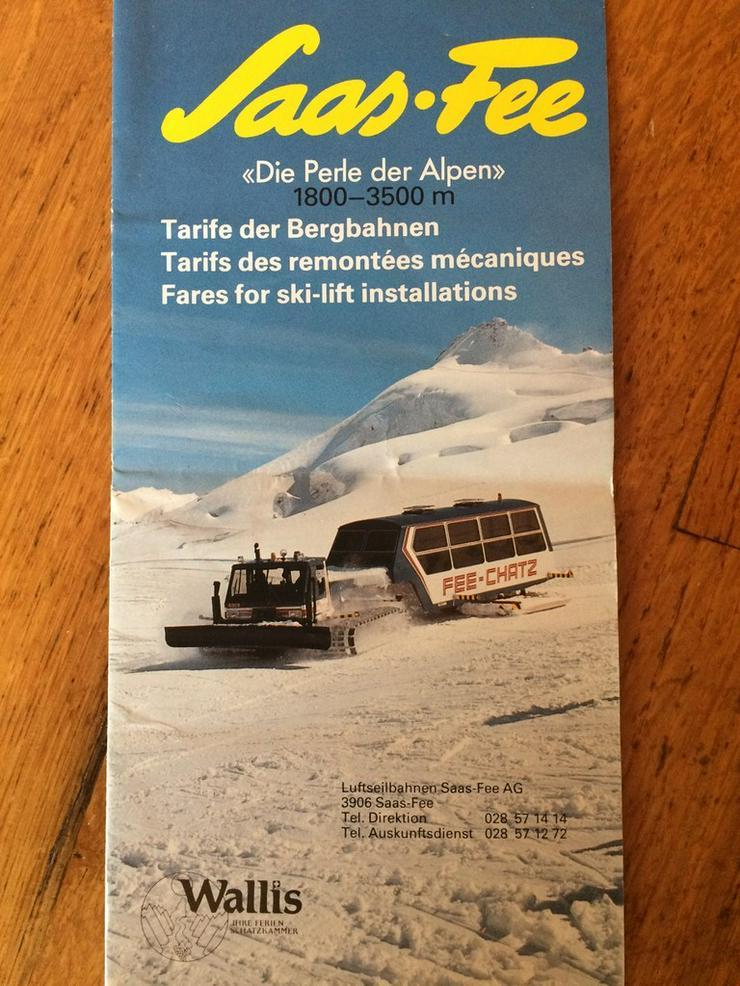 BROSCHÜRE: SCHWEIZ, 1984, SAAS FEE, ganz selten - Bücher & Zeitungen - Bild 1