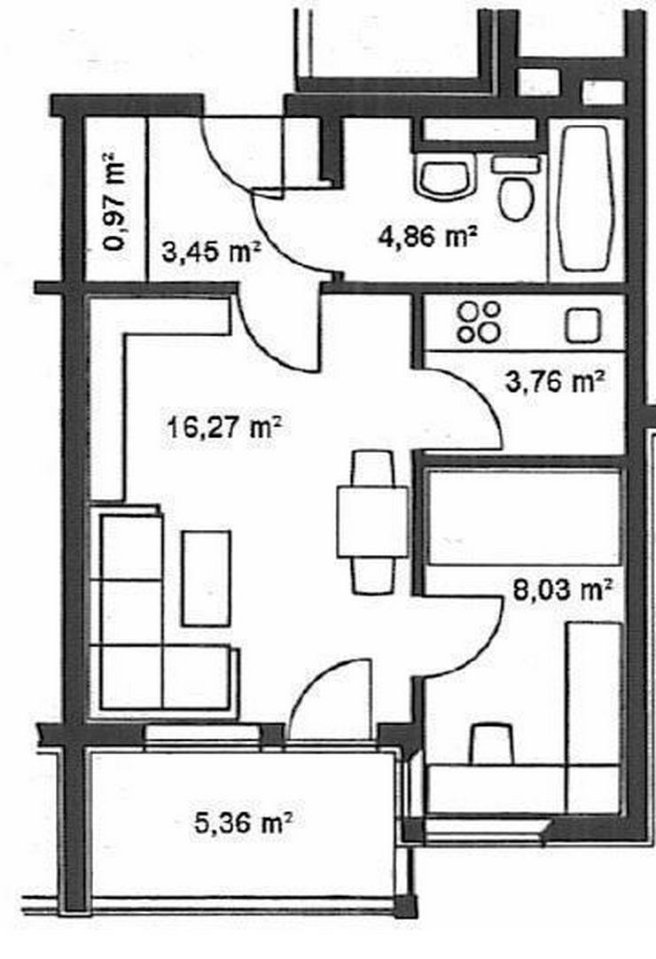 Jetzt wieder da! - Schöne 2-Zimmer-ETW mit Balkon mit PKW-Stellplatz - Prov.-Frei - Bild 1
