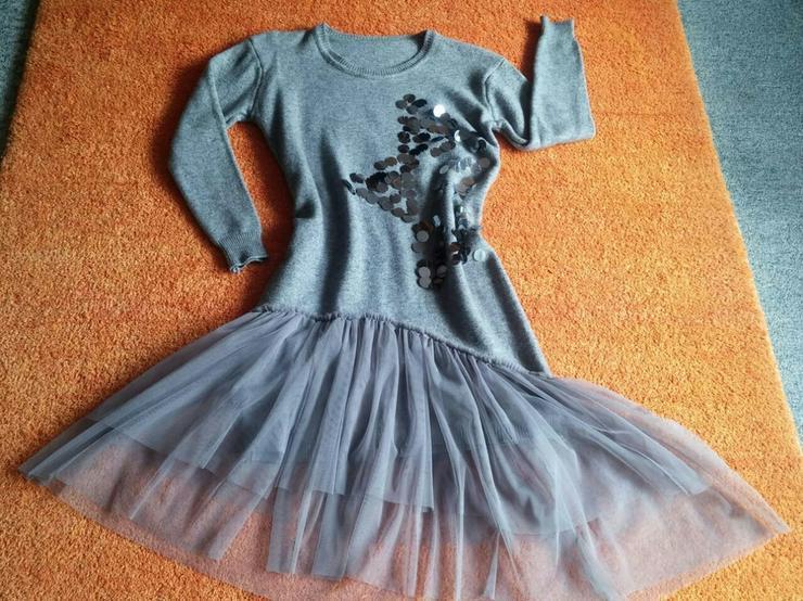 NEU Damen Kleid Winter Wollstrick Glitzer Gr.S