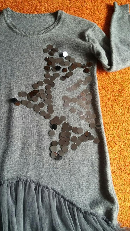 Bild 4: NEU Damen Kleid Winter Wollstrick Glitzer Gr.S