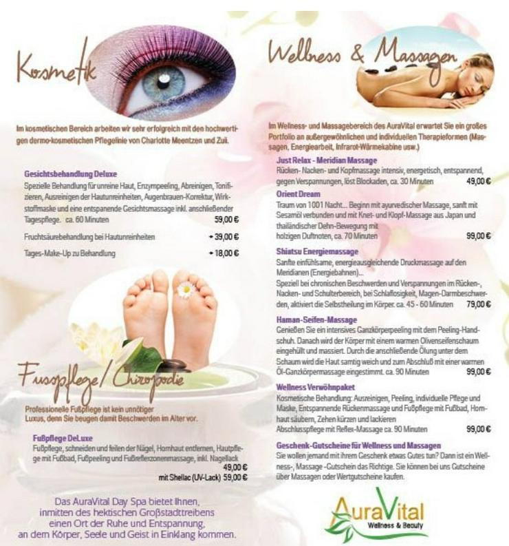 Bild 3: Verwöhnpacket Massage- Fußpflege-Kosmetik