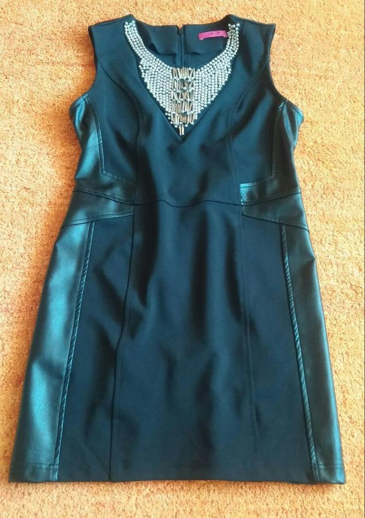 Bild 2: Damen Kleid extravagante Silber PerlenGr.3(38)
