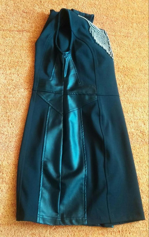Bild 3: Damen Kleid extravagante Silber PerlenGr.3(38)