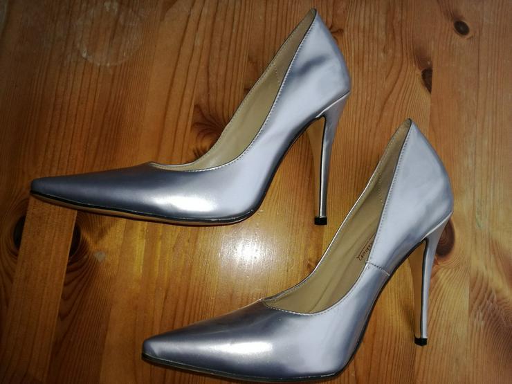 Damen Schuh silber Gr. 39