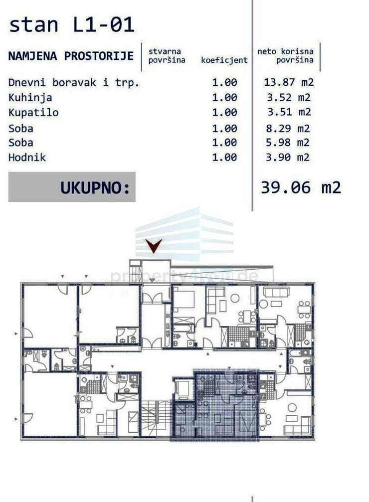Bild 2: 3-Zi. Wohnung im Erdgeschoss zu Verkaufen - Neubau in Banja Luka
