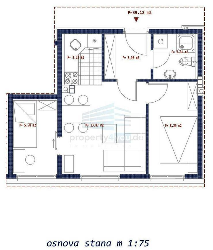 3-Zi. Wohnung im Erdgeschoss zu Verkaufen - Neubau in Banja Luka
