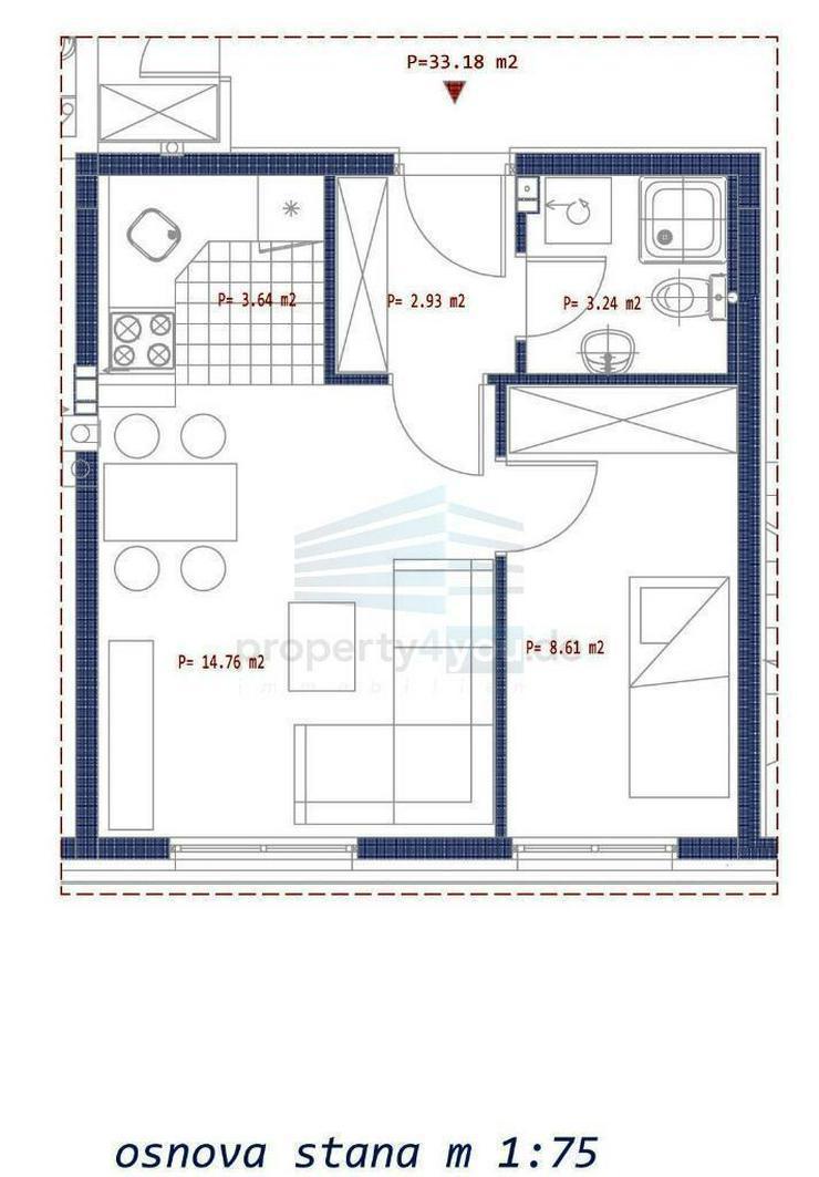 2-Zi. Wohnung im Erdgeschoss zu Verkaufen - Neubau in Banja Luka
