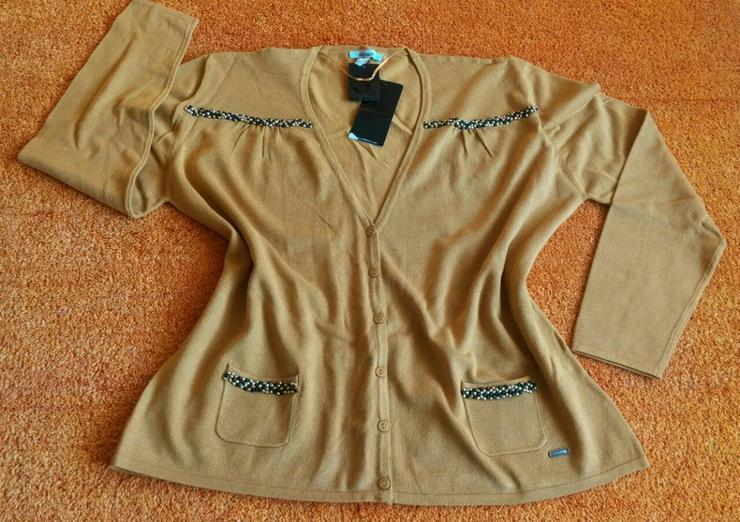 NEU Damen Jacke fein Strick Perlen Gr.48