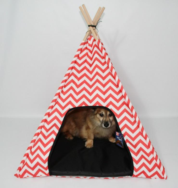 Hundezelt / Katzenzelt rot 74 x 74 x 71 cm