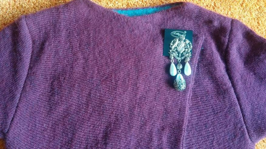 Bild 6: Damen Jacke Strick Woll Cardigan 2 Lagig Gr. S