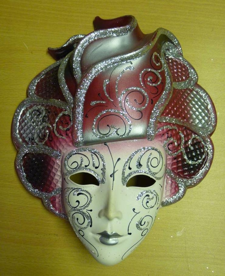 2 original Venezia-Maske handbemalt zum Aufhängen