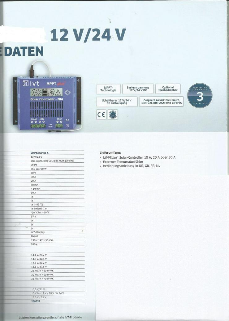 IVT MPPT Plus Solarcontroller 20A