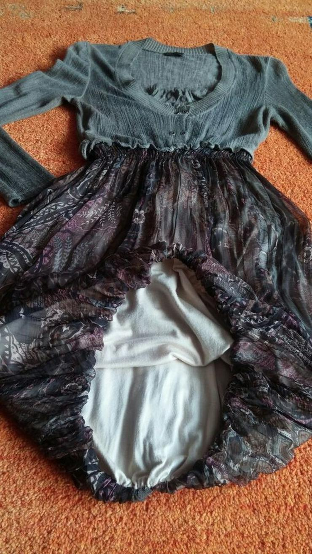 Damen Kleid Lageloock Ballon Design Gr.S