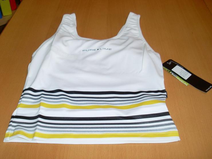 Sport Oberteil weiß Gr. M Pure Lime elastisch - Größen 40-42 / M - Bild 1