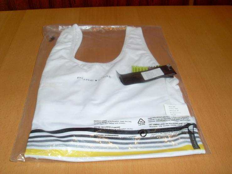 Bild 2: Sport Oberteil weiß Gr. M Pure Lime elastisch
