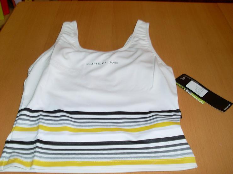Bild 3: Sport Oberteil weiß Gr. M Pure Lime elastisch