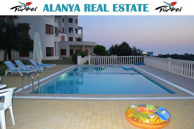 Gartenwohnung voll möbliert mit Meerblick und Pool zu vermieten in Alanya Kargicak