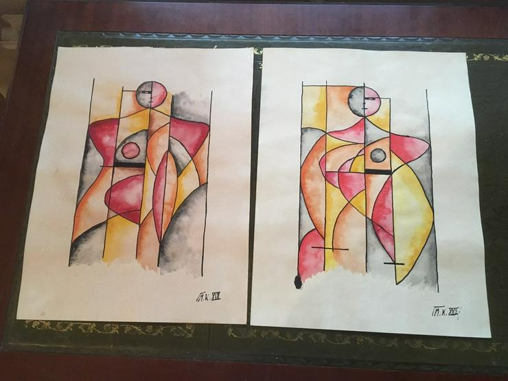 Gemälde - Aquarell - Konstruktivismus - Gemälde & Zeichnungen - Bild 1