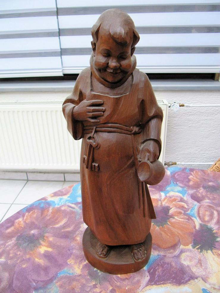Mönch Holzfigur Handarbeit