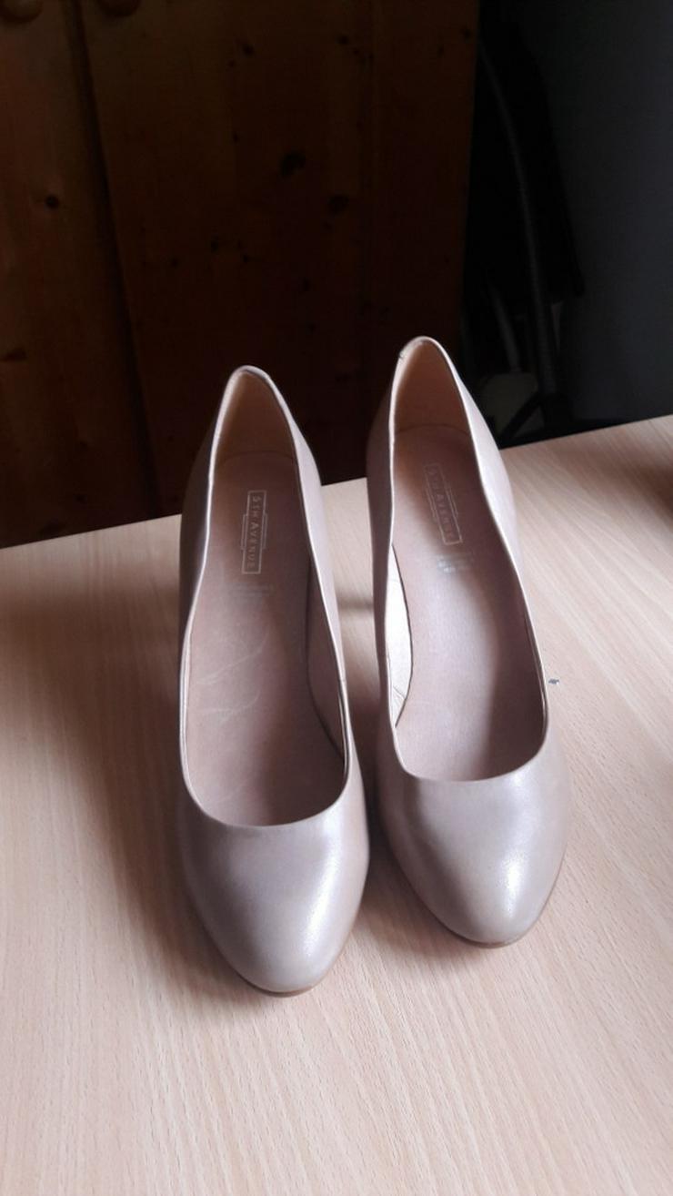 Bild 4: Beige High-Heels / Hohe Schuhe von 5th Avenue