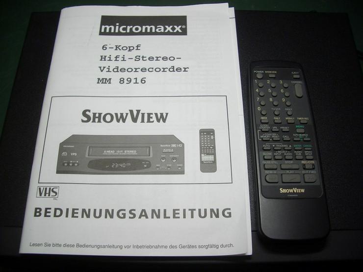 Micromaxx MM 8916 HiHi   VHS 6 Kopf HI-FI-Ster