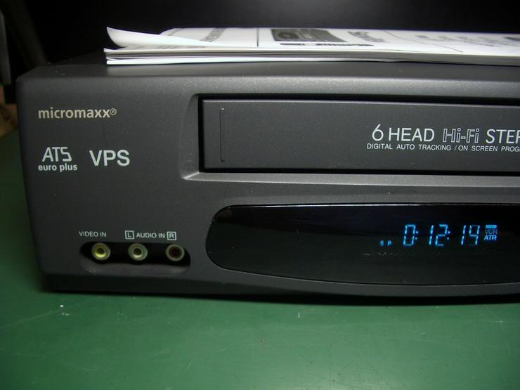 Bild 3: Micromaxx MM 8916 HiHi   VHS 6 Kopf HI-FI-Ster