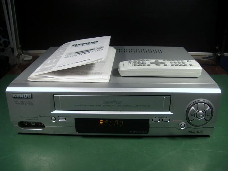 KENDO VR 2544 SV HiHi VHS 6 Kopf HI-FI-Stereo Videorecorder mit 2X Scart, Front-AV, Longplay
