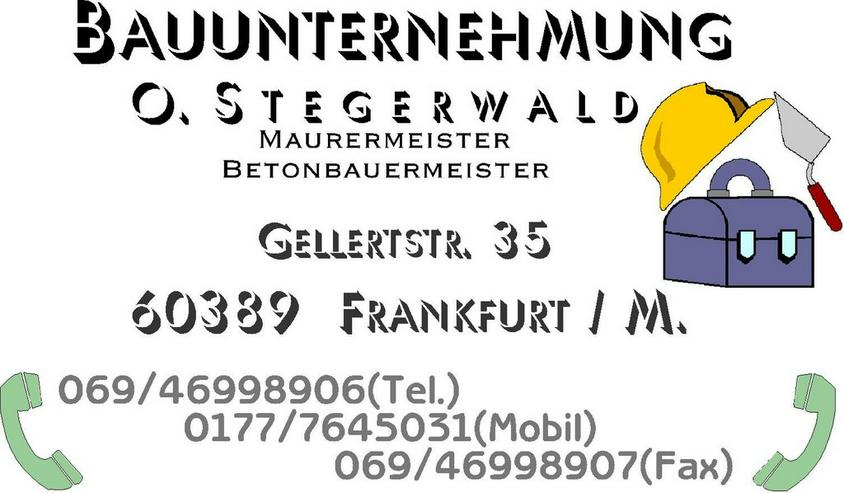 BAUUNTERNEHMUNG  STEGERWALD IN FRANKFURT/M.