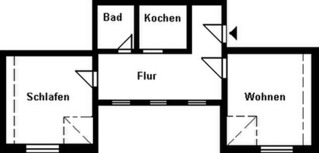 Bild 2: 2-Raum-Wohnung im Stadtzentrum