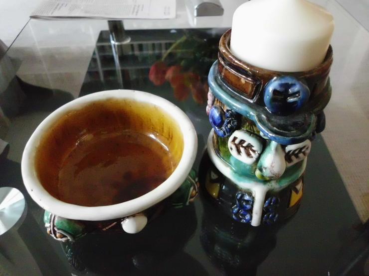 Bild 2: Kerzenständer (keramik) € 20